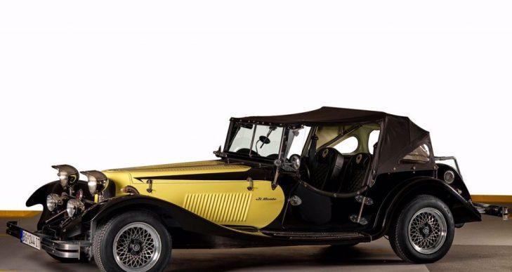 prevoz putnika oldtajmer La contesa crno zuta replika jaguar ss 100 1936